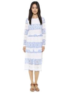 Endless Rose Contrast Lace Midi Dress