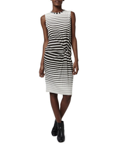 Topshop Striped Knot Dress