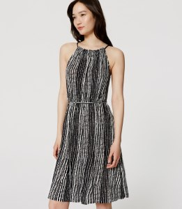 LOFT Marina Tie Waist Dress