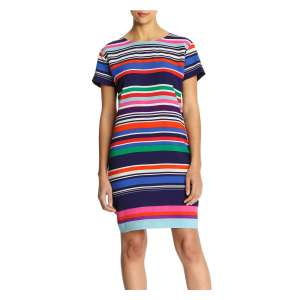 Joe Fresh Stripe Print Crepe Dress